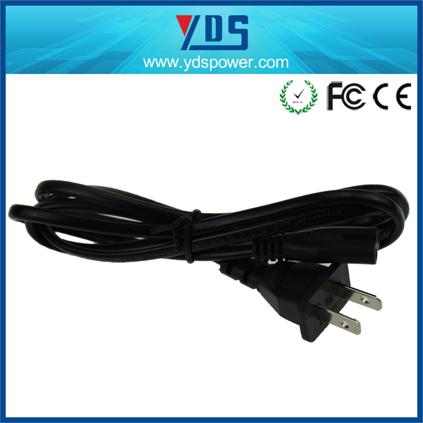 1.5m US 2 prong 0.1%-0.3% defective rate ac cable 3 pin us flat ac power cord