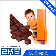 2016 New Arrival Silicone Chocolate Door Stopper Kid Safety Protect Door Stops For Home Usage