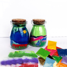 Kids DIY Hobby Party Activity Sand Art Bottle By Colored Layered Sand