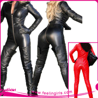 No MOQ Popular Sexy Leather Bodysuit For Women Jumpsuits