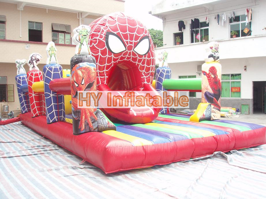 Spiderman inflatable playground balloon inflatable playground on sale kids inflatable jumping balloon