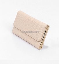 Lady selling the European and American wind three middle long card wallet