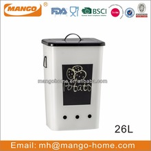 26L Large ventilate Metal Potato Storage Bin