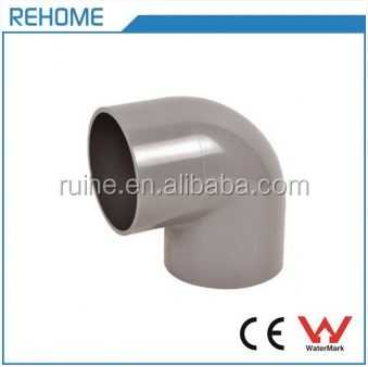 UPVC Water Supply Pipe Fittings Elbows Plastic 90 Degree Bend ISO4422