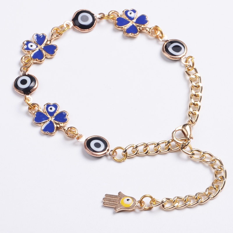 Wholesale Evil Eye Blue Eye with Hamsa Fashion Lucky Bracelet For Girls