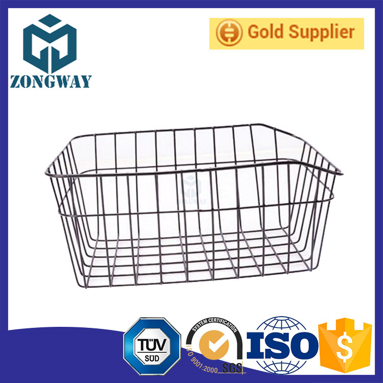 High Quality Bicycle Steel Wire Basket Supply Rear Wire Metal Bicycle Basket For Bike Storage