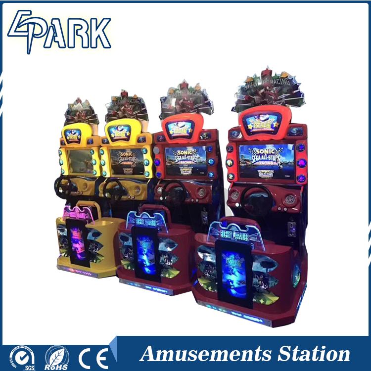 Kids coin operated simulator arcade racing car game machine
