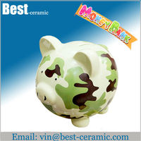 paint pig ceramic piggy bank,ceramic coin bank,ceramic money box