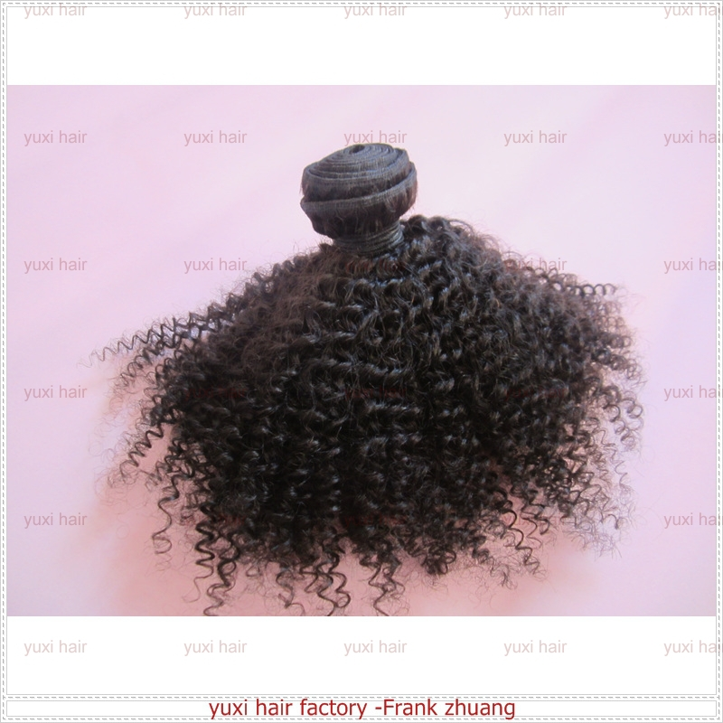 Cheap ! Luxury quality African American kinky curly hair extension