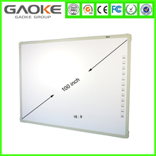 No Folded Type classroom interactive free mobile stand projector interactive whiteboard