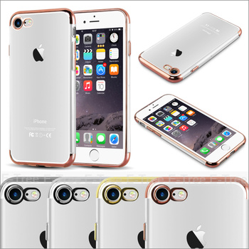 for apple iphone 7 luxury case ,cool phone accessories chrome bumper tpu case for iphone 7case