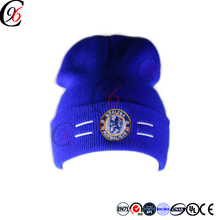 Chengxing new design custom cheap wholesale winter outdoor embroidered logo bliue color 100%acrylic spandex knitting beanie hat