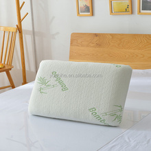 Manufacturer bamboo fiber memory foam pillow for improving sleeping with pillow cover