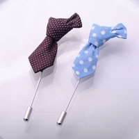 Styles Pins Polka Dot Brooches Men's Ties Long Lapel Pin & Butterfly Pins Brooches All-match Fabric Handmade Brooch for Suit///