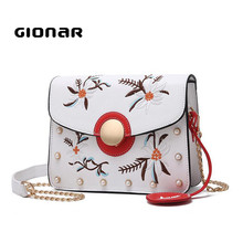 The New Model Embroidery Online Shopping Cheap From China PU Leather Handbag