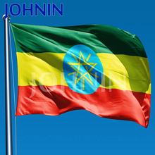 promotion green yellow red large flags hot sale Ethiopian flag