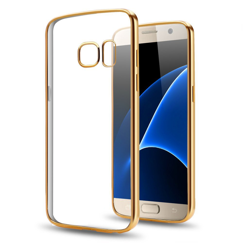 C&T Electroplating Gold Ultra Slim Clear Crystal Soft Flexible TPU Case Cover for Samsung Galaxy S8