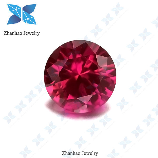 alibaba express synthetic ruby 4# faceted bead