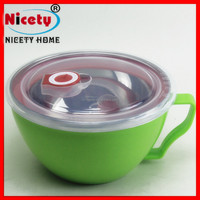 CE Certification and Stainless Steel Plastic Noodles Bowl Material Multi-function food container with lid