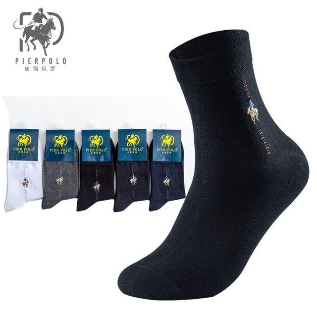 Superior Casual Hot Sale Thicker Men Crew Socks Medias de los Pier Polo All-cotton Men's Hosiery 200 Needle Cotton Socks