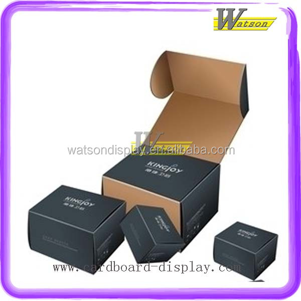 Creative Different Size Black Carton Flat Folding Packaging Box
