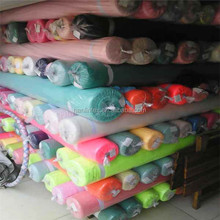 large quantity cheap plain dyed color chiffon fabric stock in keqiao warehouse hot sale