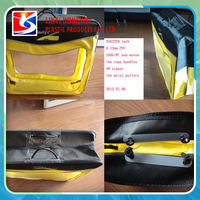 Transparent Plastic Pvc Blanket Bag With Steel Wir
