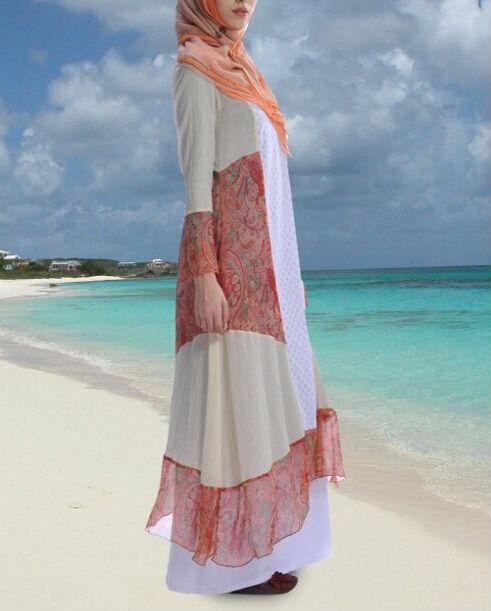 long dress muslim casual cotton long dresses smart casual