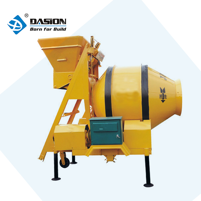JZC250 ajax reversal discharging concrete mixer price self skid loader