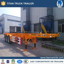 20 ft 40ft skeleton semi trailer used container chassis sale