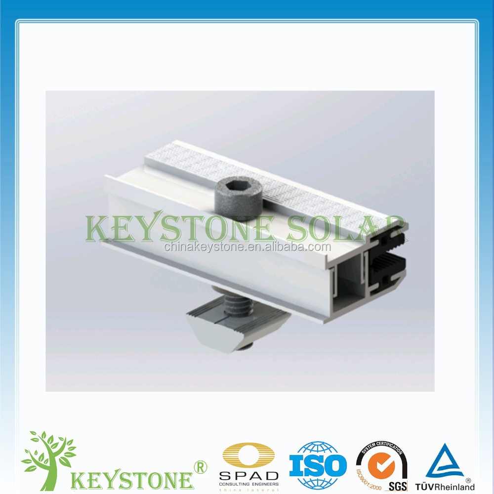 Latest thin film solar panel clamp for solar mounting structure