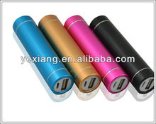 Cylindrical shape unique aluminum alloy material mobile power supply