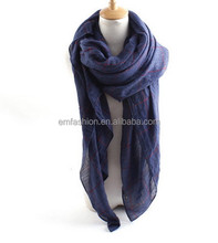 2015 New Products Fashion Vintage Classic Checked Print Cotton Scarf