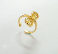 18k gold plated stainless steel adjustable ring