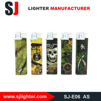 Gas refill electronic spark lighter electric