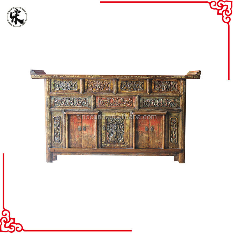 Chinese old classical praying cabinet- Tibetan antique shrine cabinet