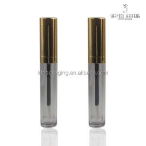 KF Makeup Plastic Gold Injection Tube Lip Gloss Packaging 6ML