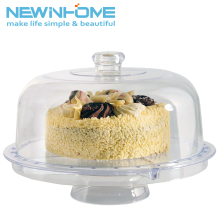 Wholesale Cake Dome Display Acrylic Floating Cake Tray Stand
