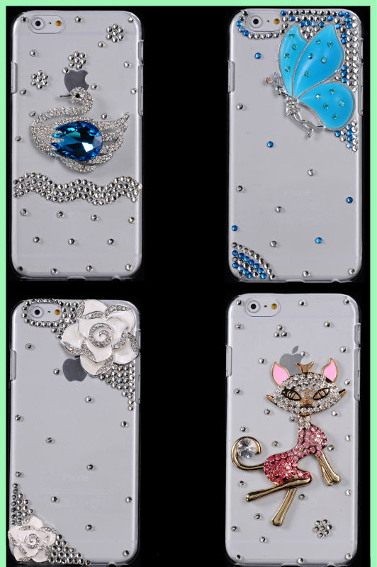 Newest Bling Crystal Diamond Rhinestone Hard Case Cover for iPhone 6