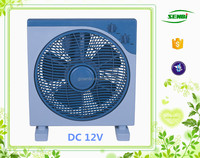 guangzhou best design box fans for home use 12 inch dc 12v box fan