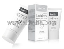 Sun Face Cream SPF 50+ LAVIDERM with High Photo-Protection and Colour