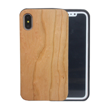 Natural Blank Wooden Mobile Cell Cover for Iphone x 7 6 6s Wood Phone Case