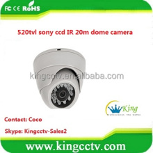 low price 520tvl sony ccd camera 20m ir dome camera rotating dome surveillance cameras( HK-SW352)