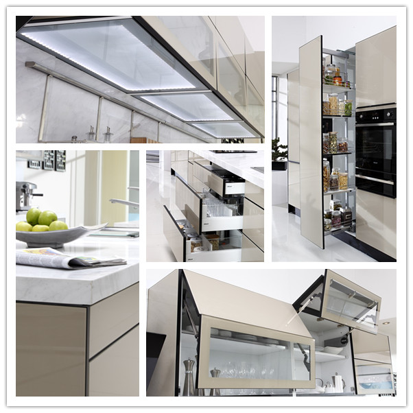 2015 Toppest quality modern style modular kitchen cabinets for wholesales