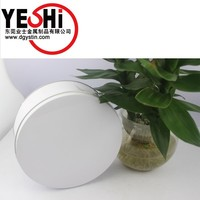 Printing white color food grade round cookies tin can wholesale