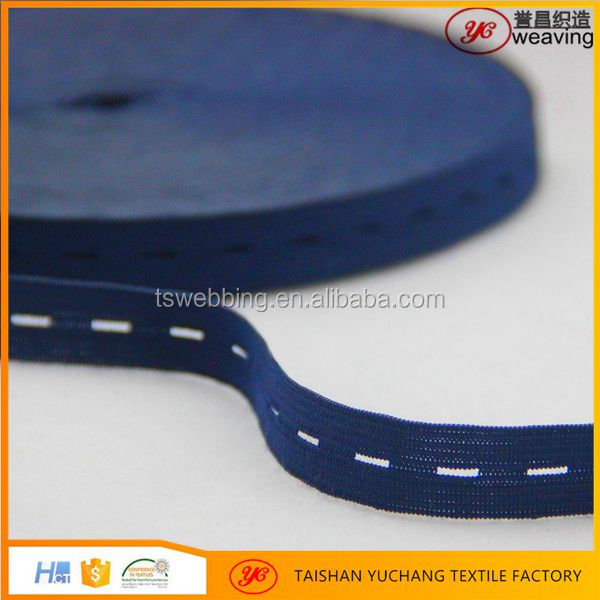 Manufacturers wholesale button hole elastic tape bands for clothes