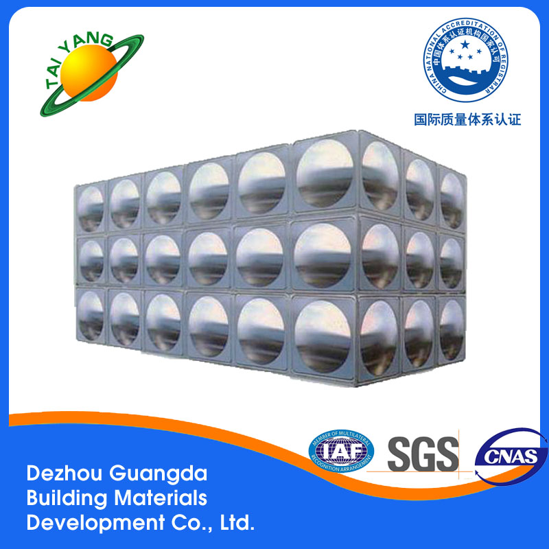 Dezhou hot-sale stainless sheet water tank building water tank with SGS certificate
