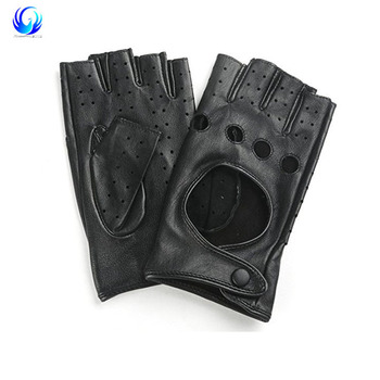 Hot selling black color car driving Leather gloves with low price