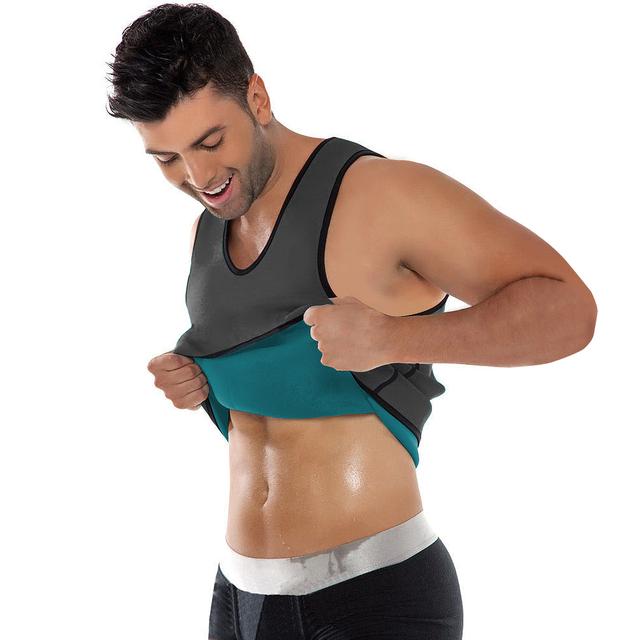 Weight Loss body shaper Mens Neoprene slimming sauna vest&tank top with zip
