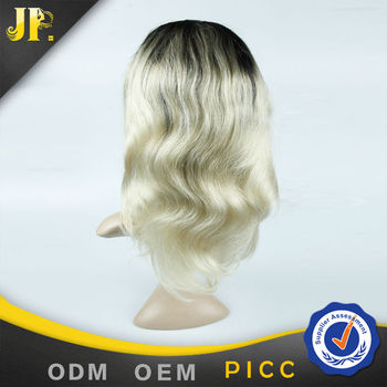 Top grade 100% human full lace knot wig long inch color 1b-613 body wave for women